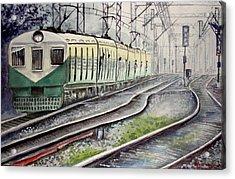 Morning Local Train Acrylic Print