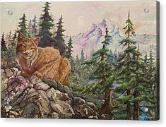 Morning Lynx Acrylic Print