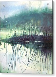 Acrylic Print featuring the painting Morning Marsh by Gertrude Palmer