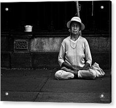 Morning Meditation At Toronto City Hall Acrylic Print