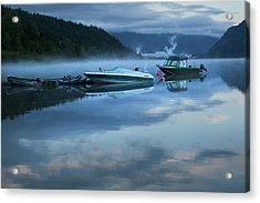 Acrylic Print featuring the photograph Morning Mist Adams Lake by Theresa Tahara