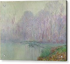 Morning Mist Acrylic Print by Gustave Loiseau