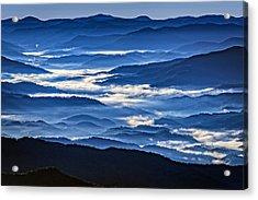 Morning Mist In The Smokies Acrylic Print by Rick Berk