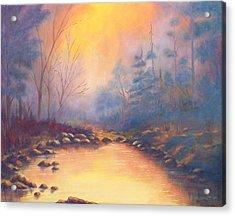 Morning Mist Acrylic Print by Merle Blair