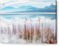 Morning Mist On The Lake Acrylic Print