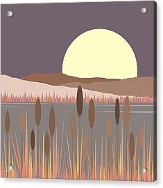 Morning Moon Acrylic Print