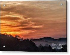 Morning Mountain Glow Acrylic Print by Thomas R Fletcher