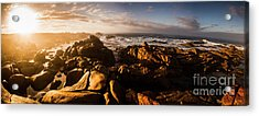 Morning Ocean Panorama Acrylic Print by Jorgo Photography - Wall Art Gallery