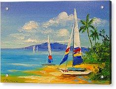 Morning On A Sunny Beach Acrylic Print