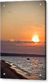 Morning On Earth Acrylic Print by Michel Filion