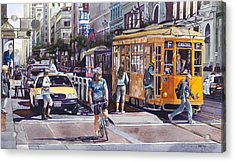 Morning On Market Street Acrylic Print by Mike Hill