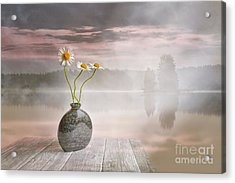 Morning On The Beach Acrylic Print by Veikko Suikkanen