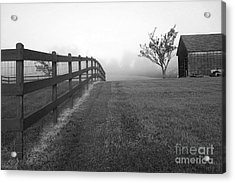 Morning On The Farm        Bw Acrylic Print