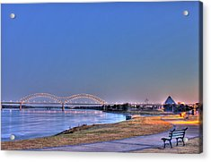 Morning On The Mississippi Acrylic Print by Barry Jones