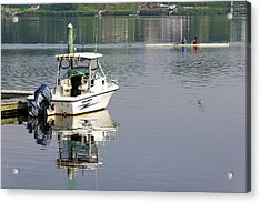 Acrylic Print featuring the photograph Morning On The Navesink River 2 by Gary Slawsky
