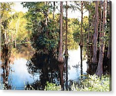 Morning On The River Acrylic Print by Marion  Hylton