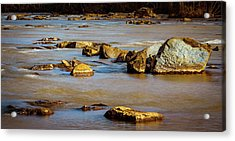 Morning On The Rocky River Acrylic Print