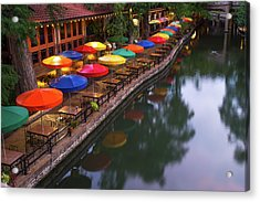 Acrylic Print featuring the photograph Morning On The San Antonio Riverwalk by Gregory Ballos