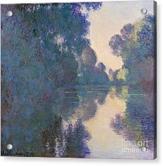 Morning On The Seine Near Giverny, 1897 Acrylic Print by Claude Monet