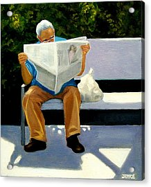 Morning Paper Acrylic Print by Joyce Geleynse