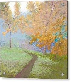 Morning Path 2 Acrylic Print by Bruce Richardson