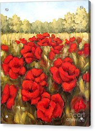 Morning Poppies Acrylic Print