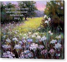 Morning Praises With Bible Verse Acrylic Print