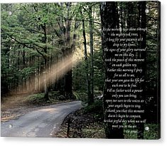 Morning Prayer Acrylic Print by Chris Jones
