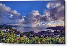 Morning Rain In Kaneohe Bay Acrylic Print