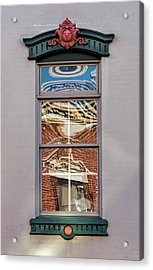 Acrylic Print featuring the photograph Morning Reflection In Window by Gary Slawsky