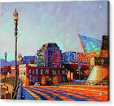Morning Rush - The Corner Of Salem Avenue And Williamson Road In Roanoke Virginia Acrylic Print