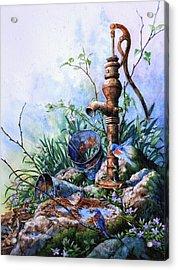 Morning Shower Acrylic Print by Hanne Lore Koehler