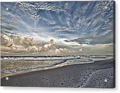 Morning Sky At The Beach Acrylic Print by HH Photography of Florida