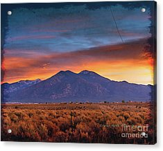 Morning Sky Acrylic Print by Charles Muhle