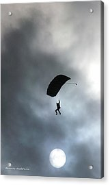 Morning Skydive Acrylic Print by Tannis  Baldwin