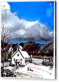 Morning Snow Ministry Acrylic Print