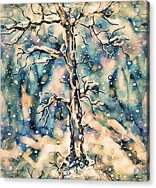 Morning Snow Acrylic Print by Natalie Holland
