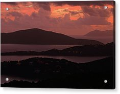 Acrylic Print featuring the photograph Morning Sunrise From St. Thomas In The U.s. Virgin Islands by Jetson Nguyen
