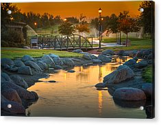 Morning Sunrise In The Park Acrylic Print