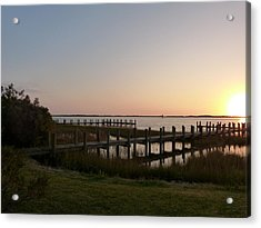Acrylic Print featuring the photograph Morning Sunrise Over Assateaque Island by Donald C Morgan