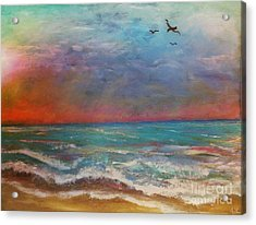 Acrylic Print featuring the painting Morning Sunrise by Vickie Scarlett-Fisher