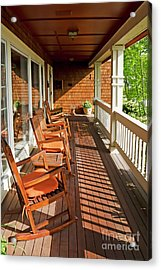 Morning Sunshine On The Porch Acrylic Print