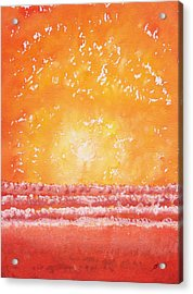 Morning Surf Original Painting Acrylic Print by Sol Luckman