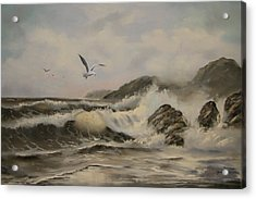 Acrylic Print featuring the painting Morning Thunder by Joni McPherson