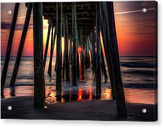 Morning Under The Pier Acrylic Print