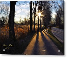 Morning Walk Acrylic Print by Brian Fisher