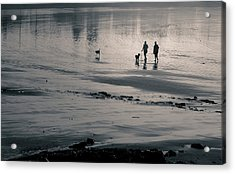 Morning Walk, Gooch's Beach, Kennebunk, Maine Acrylic Print
