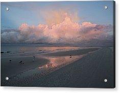 Acrylic Print featuring the photograph Morning Walk On The Beach by Kim Hojnacki