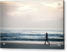 Morning Walk With Color Acrylic Print