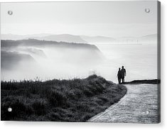 Morning Walk With Sea Mist Acrylic Print